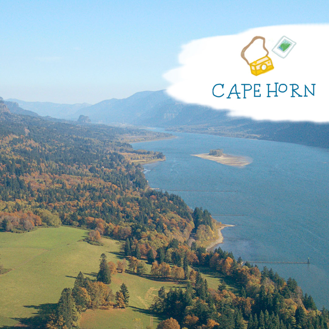 View of Columbia River Gorge from Cape Horn