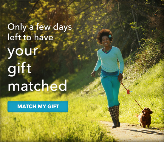 Only days left to have your gift matched