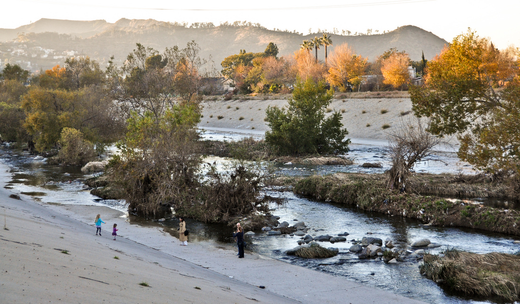 Exploring the L. A. River Bikepath, just north of Rattlesnake Park \