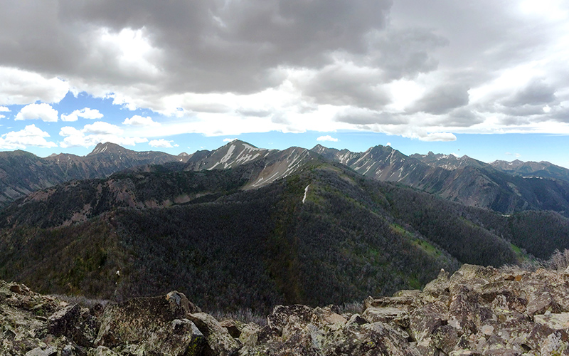 View of Lee Metcalf Wilderness from the proposed Alex Diekman Peak