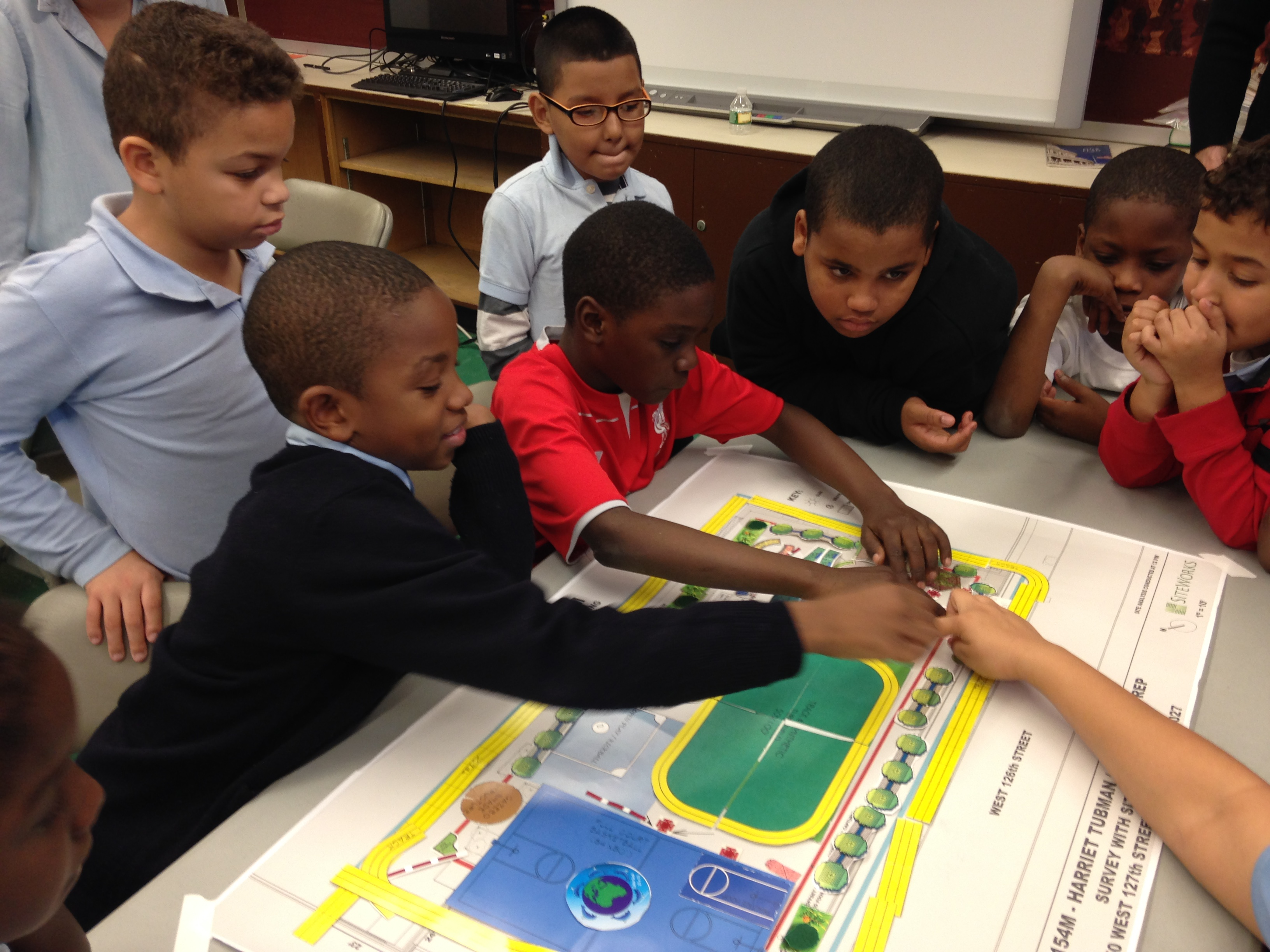 Students design a playground