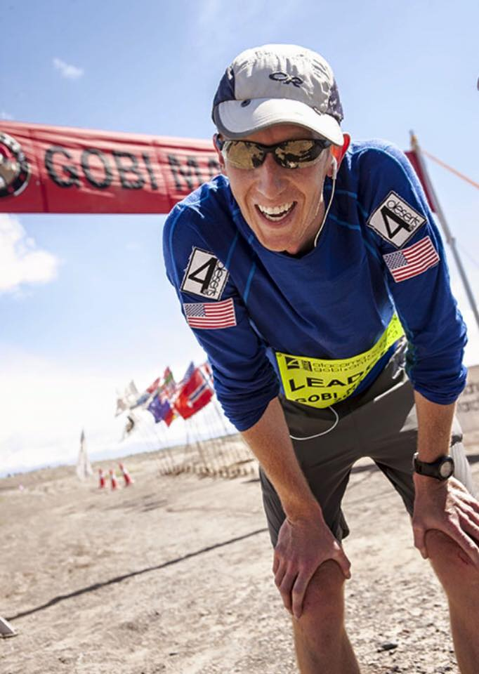 Kyle at the Gobi March finish line