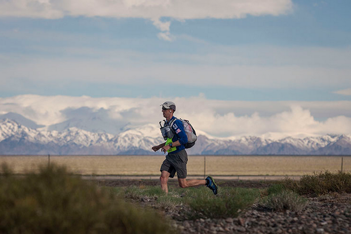 Kyle racing the Gobi March