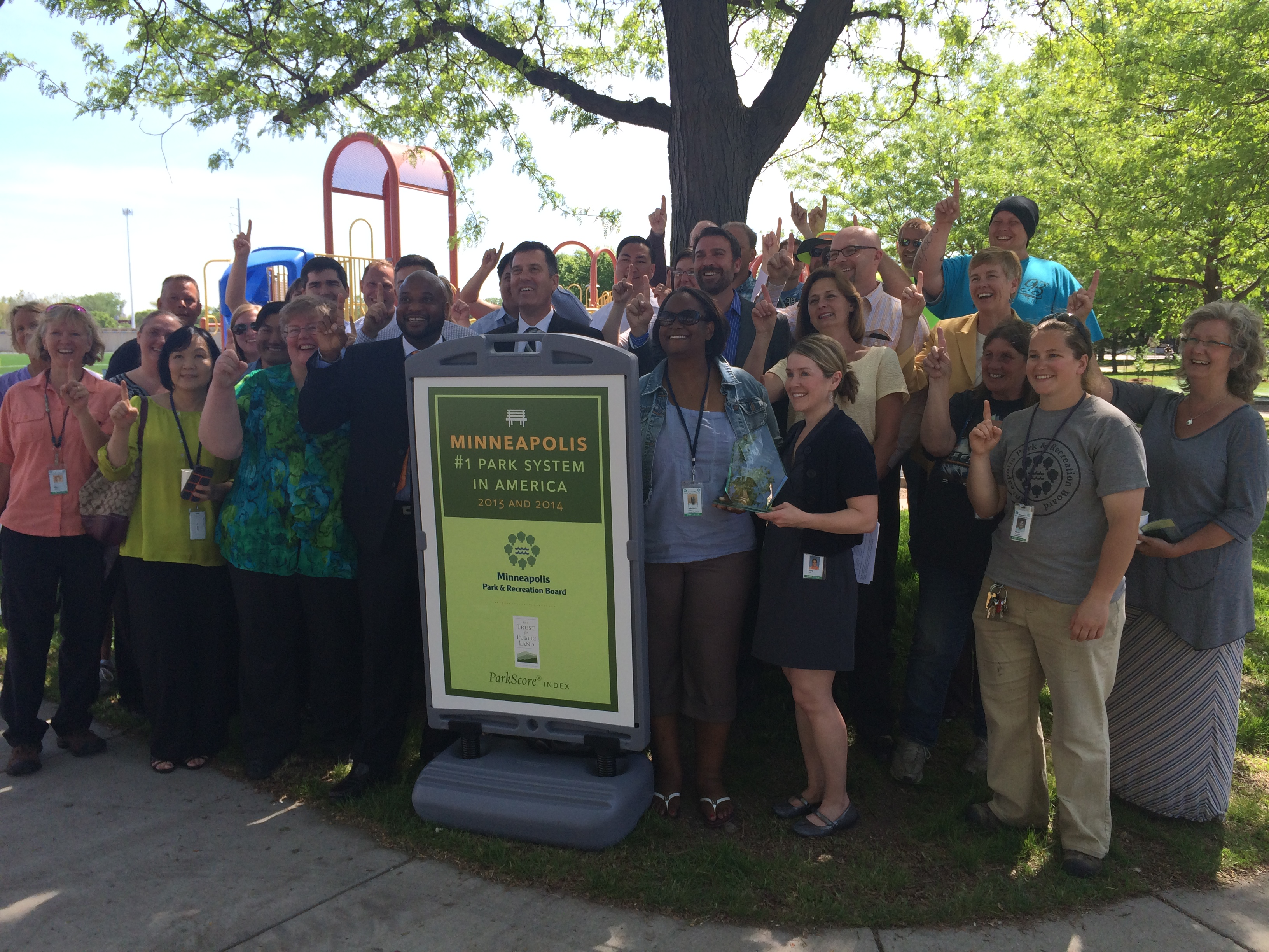 Minneapolis residents celebrate their #1 ParkScore ranking