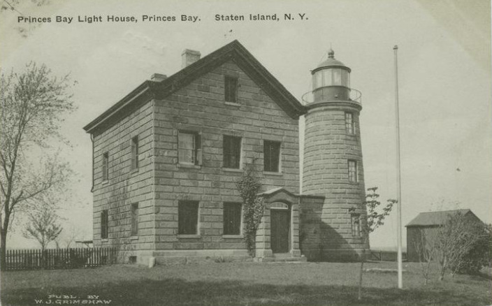Historic photo of Prince's Bay Light