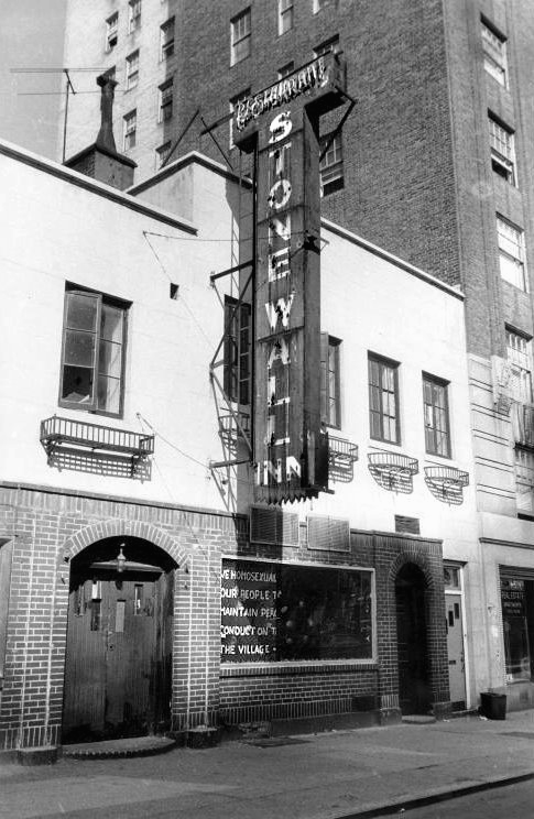 1969 photo of the outside of the Stonewall Inn.