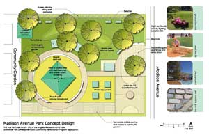 Madison Avenue Park Design Concept Drawing