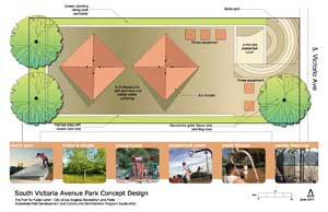S. Victoria Avenue Park Design Concept Drawing