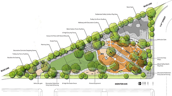 Monitor Avenue Park design schematic
