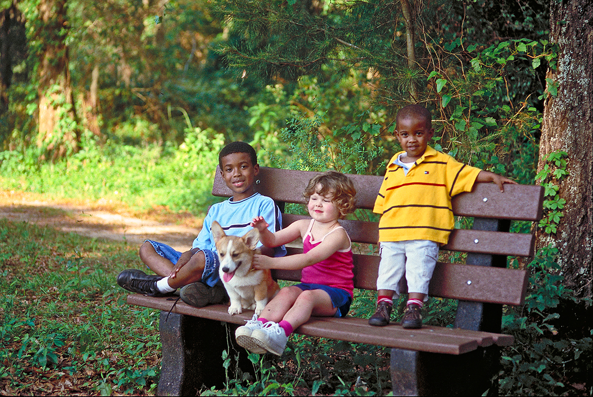 Children enjoy the Miccosukee Greenway in Tallahassee, FL