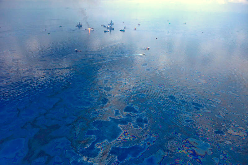 Aerial of the Deepwater Horizon spill.