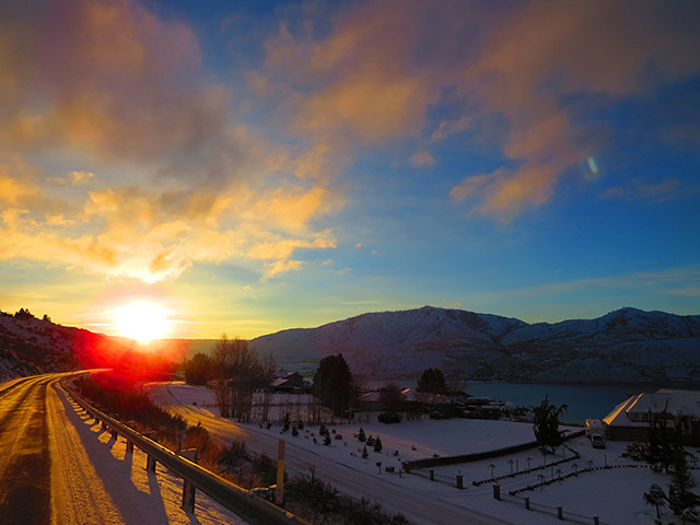 Photo of sunset at Lake Chelan