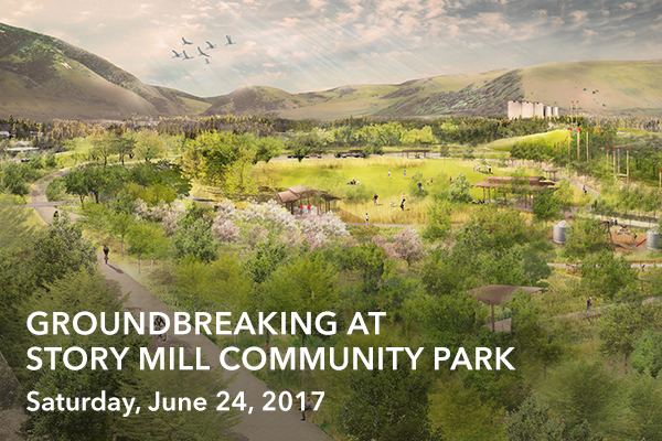Groundbreaking at Story Mill Community Park
