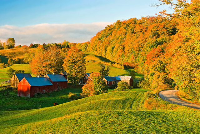 Photo of the Vermont countryside