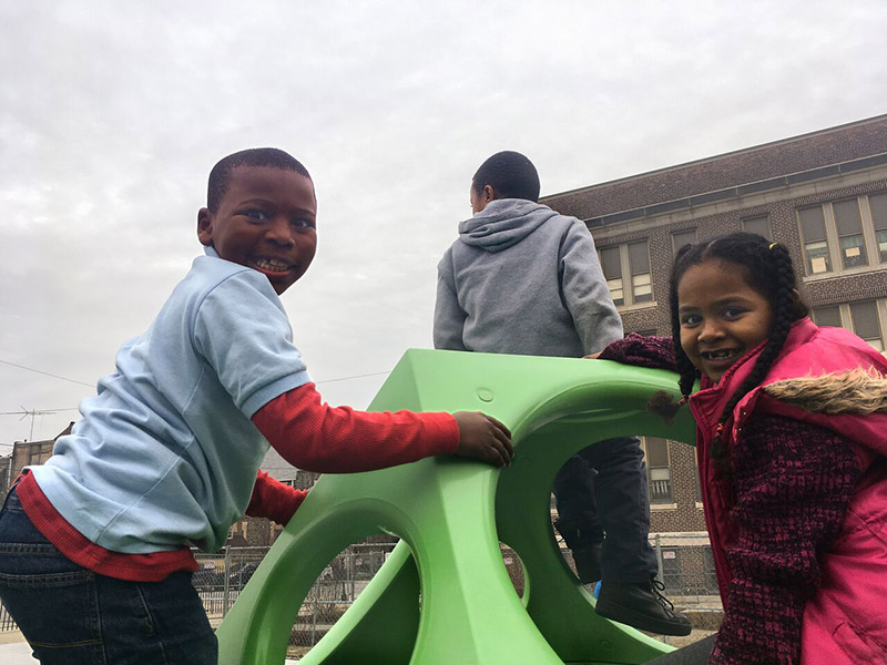 Photo of kids on a playground