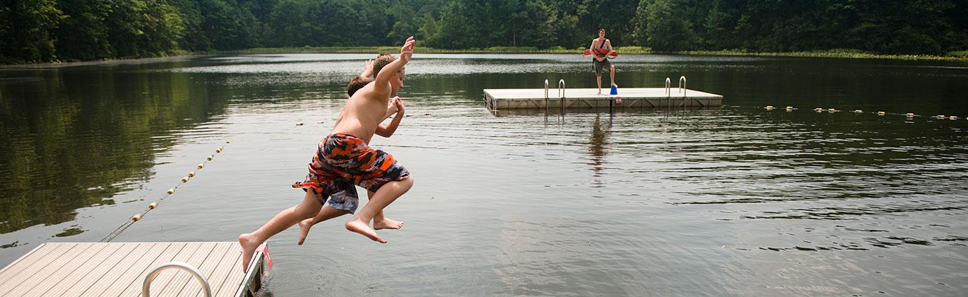 Taking a leap at Pouch Camp on Staten Island, NY