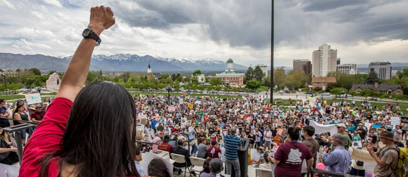 Rally for public lands on May 6 2017 in Salt Lake City, UT.