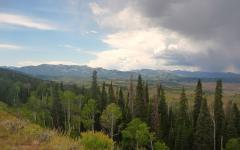 View of the Upper Hoback Basin from the South Rim, across the proposed drilling site.  View of the Upper Hoback Basin from the South Rim, across the proposed drilling site.