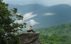 Ranger Bobby Fulcher checks out the view from Cumberland Plateau.  Ranger Bobby Fulcher checks out the view from Cumberland Plateau.