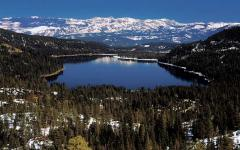 View of Donner Lake from Schallenberger Ridge, CA  View of Donner Lake from Schallenberger Ridge, CA