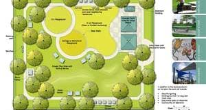Larch Avenue Park Design Concept Drawing