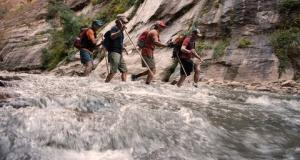Hiking the Zion Narrows with Erik Weihenmayer