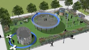 Design schematic for one of the re-designed Helen Diller Playgrounds.
