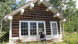 Butch Clark at the cabin in Fossil Creek, Colorado