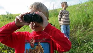 Bird watching at Savage Fen Scientific and Natural Area in Savage, MN.