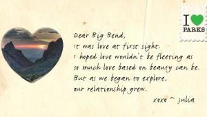 Love letters to parks