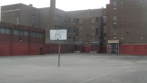 """Before"" shot of John H. Taggart Elementary School in Philadelphia"