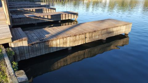 Boat dock on Lake Conroe