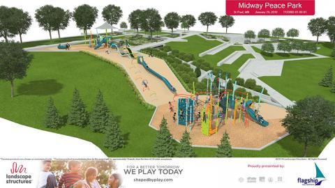 Rendering of Midway Peace Park