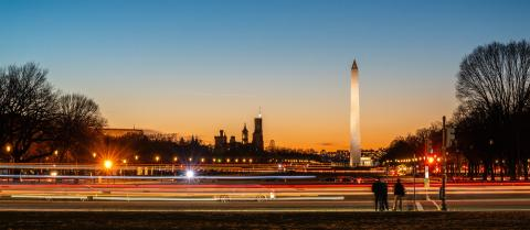 Dusk on the National Mall
