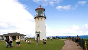 Kilauea Lighthouse at Kilauea Point National Wildlife Refuge, Kaua'i, HI.