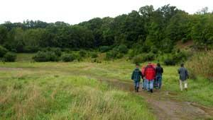 Hikers at Shale Valley, NJ