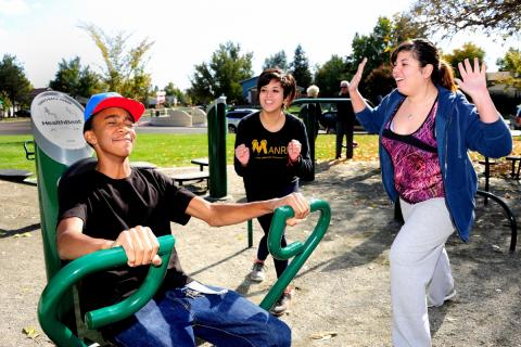 Trust for Public Land Fitness Zone areas