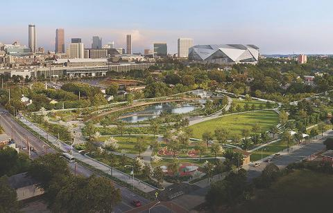 Conceptual rendering of Cook Park with a Stadium by HDR, Inc