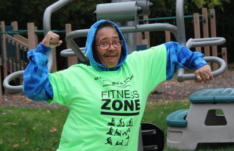 Fitness Zone exercise area, Cleveland, OH