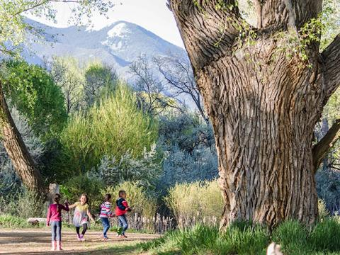 Photo of children at Taos Land Trust in New Mexico