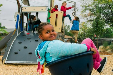 Photo of kids in a playground