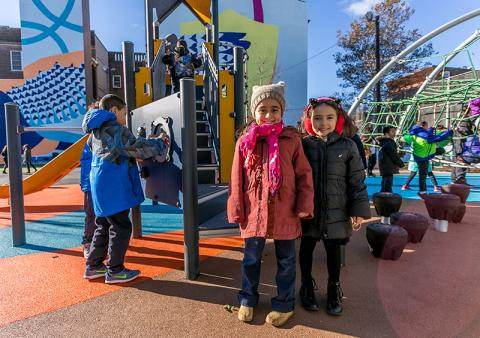 Photo of children at a playground