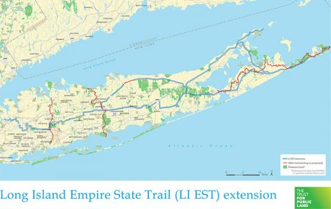 Map of Long Island Empire state Trail