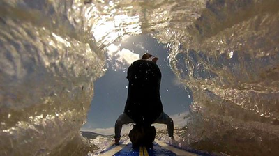 Michael Lee's photo of his son catching a wave at Canaveral National Seashore received 743 votes