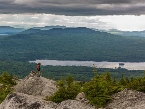 Photo of someone with a view from Moxie Bald Mountain