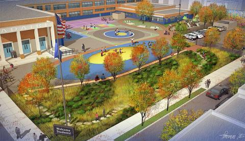Design schematic for Alexander Adaire School Playground
