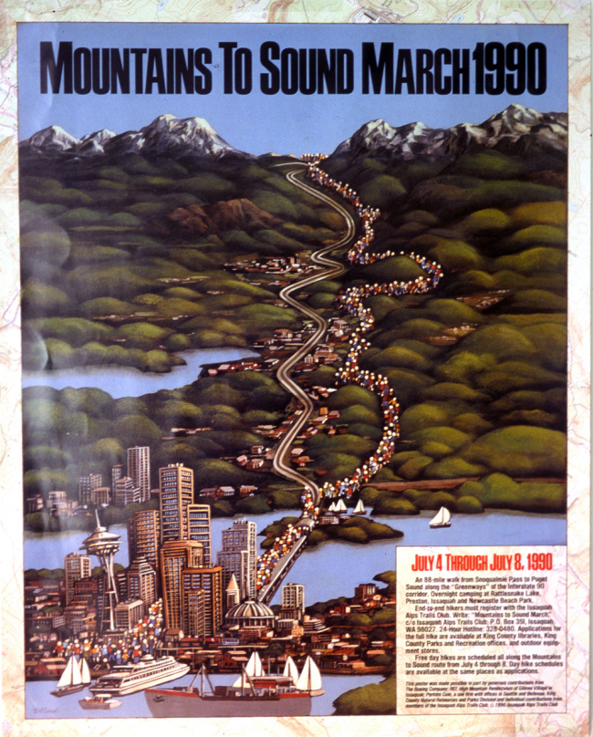 Poster for the 1990 Mountains to Sound March