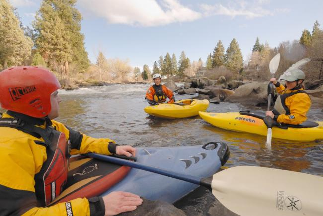 Kayaking in Deschutes River, Oregon