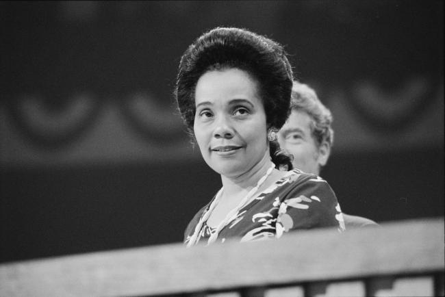 Coretta Scott King at the Democratic National Convention in 1976
