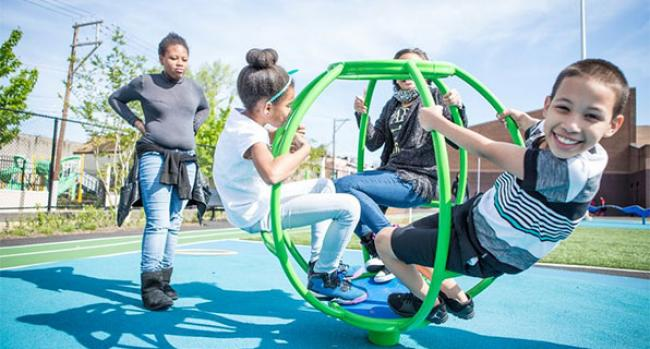 Neighborhood playgrounds make a world of difference